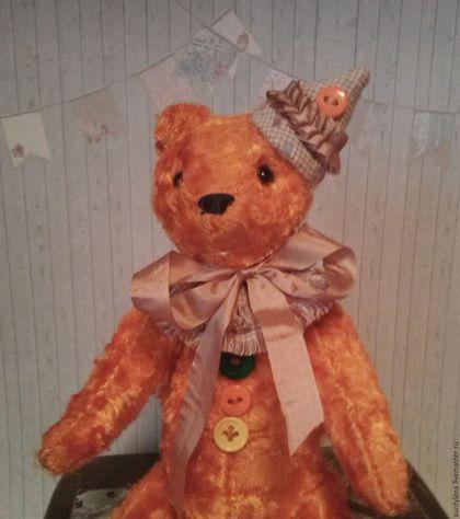 """Мишки Тедди ручной работы. Ярмарка Мастеров - ручная работа. Купить Мишка тедди """"Я твой подарок!"""". Handmade. Рыжий"""
