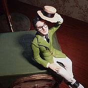 """Куклы и игрушки ручной работы. Ярмарка Мастеров - ручная работа Авторская кукла """"К черту безопасность!"""" (портрет Харолда Ллойда). Handmade."""