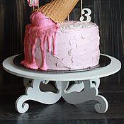 """Для дома и интерьера ручной работы. Ярмарка Мастеров - ручная работа Подставка под торт """"вензель низкая"""". Handmade."""