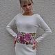 """Платья ручной работы. Ярмарка Мастеров - ручная работа. Купить Платье""""Хризантема"""". Handmade. Белый, полушерсть"""