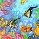 Животные ручной работы. Заказать В морских глубинах. Шелковая радуга Натальи Никифоровой. Ярмарка Мастеров. Роспись по шелку, водоросли
