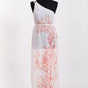 Одежда handmade. Livemaster - original item Chiffon sundress print coral. Handmade.