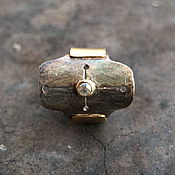 Украшения ручной работы. Ярмарка Мастеров - ручная работа INNAMORATA кольцо # 1 (алмаз,  серебро, латунь, золото). Handmade.