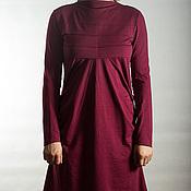 Одежда ручной работы. Ярмарка Мастеров - ручная работа Вишневое трикотажное платье.. Handmade.
