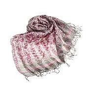 Аксессуары ручной работы. Ярмарка Мастеров - ручная работа Парео из натурального шелка розово-серого оттенка. Handmade.