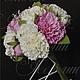 Свадебные цветы ручной работы. Свадебный букет с пионами и розами. Катерина Доброва (Кетлин). Интернет-магазин Ярмарка Мастеров. фоамиран