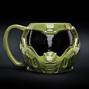 Посуда handmade. Livemaster - original item Doom mug. Helmet of Hangman`s Rock (Dodgy) Ceramic, for tea and coffee. Handmade.