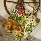 Картины и панно ручной работы. Ярмарка Мастеров - ручная работа Панно «Братец Кролик». Handmade.