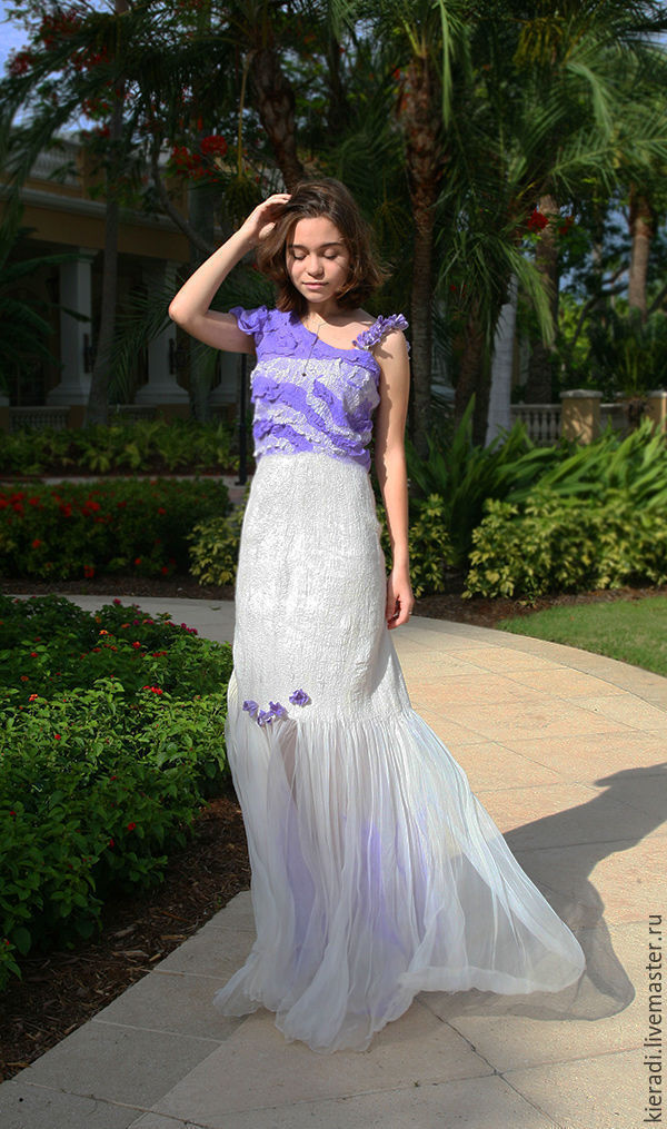 Dresses Handmade Livemaster The Wedding Dress Of Silk And Wool