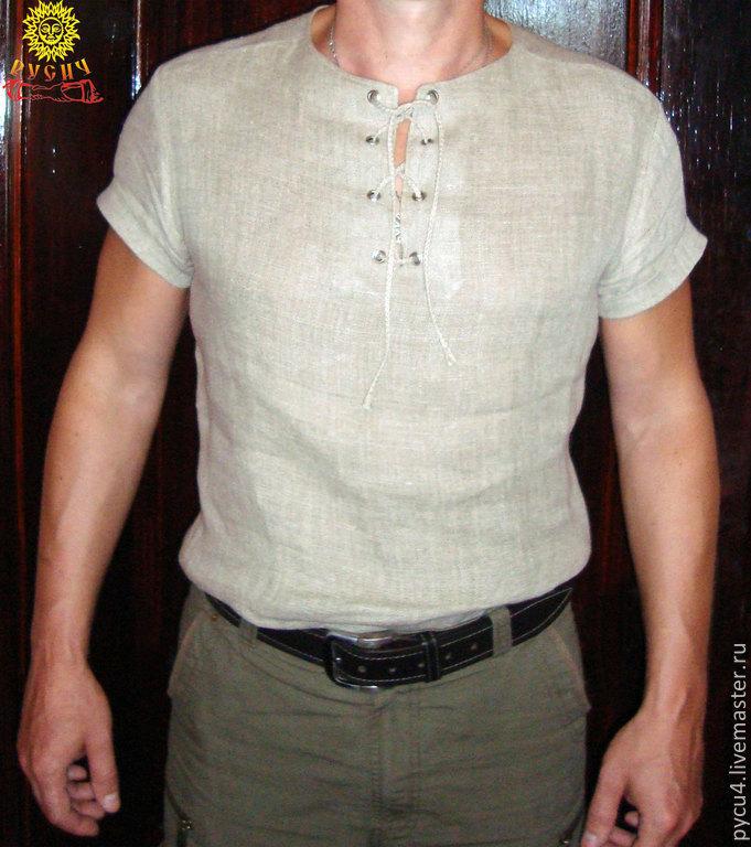 Рубаха льняная на каждый день, Народные рубахи, Москва, Фото №1