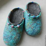 """Обувь ручной работы. Ярмарка Мастеров - ручная работа Тапки валяные домашние """"Бусинки"""". Handmade."""