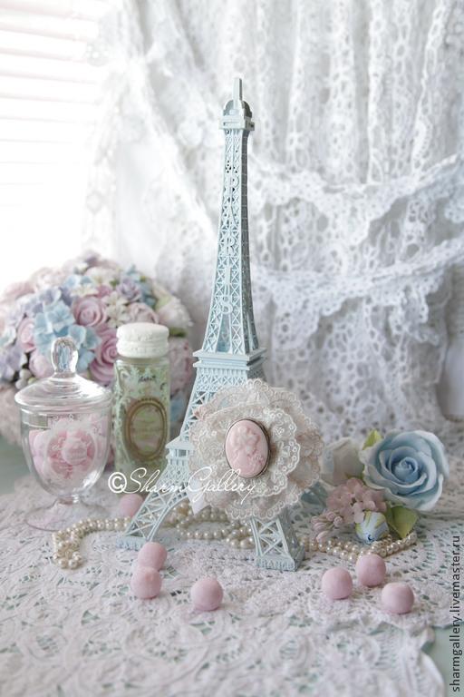 """Статуэтки ручной работы. Ярмарка Мастеров - ручная работа. Купить """"Shabby Tour Eiffel"""". Эйфелева башня.. Handmade. Башенка, Париж"""