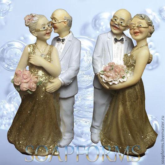 """Силиконовая форма для мыла """"Золотая свадьба"""" 3D"""