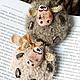 Сказочные персонажи ручной работы. Ярмарка Мастеров - ручная работа. Купить БяшкоБрошки. Handmade. Бежевый, овечка, Паперклей
