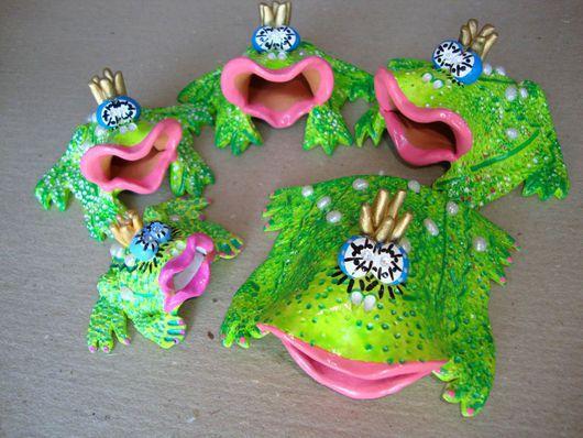 Фен-шуй ручной работы. Ярмарка Мастеров - ручная работа. Купить Денежные жабы, жабсы, жабки, лягушки .... Handmade. Зеленый