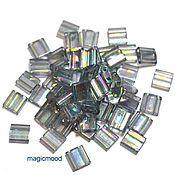 Материалы для творчества handmade. Livemaster - original item 5 grams Tila 2440D dark grey Japanese beads Miyuki Miyuki Radoi.. Handmade.