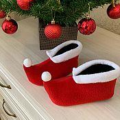 Работы для детей, handmade. Livemaster - original item Shoes Gnome Elf Frost baby Christmas elf shoes. Handmade.