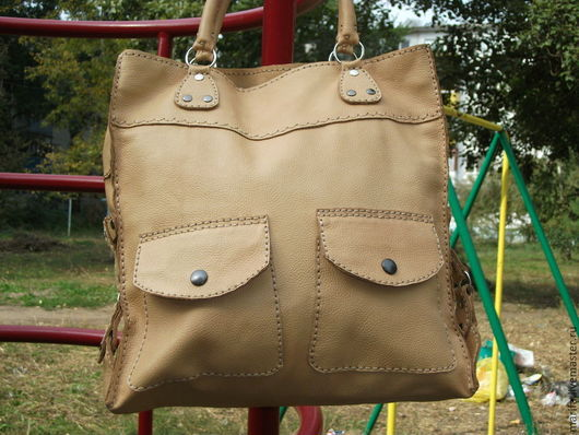 Женские сумки ручной работы. Ярмарка Мастеров - ручная работа. Купить Любимая сумка ручной работы. Handmade. Бежевый