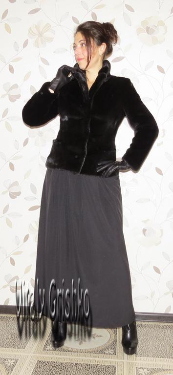 """Верхняя одежда ручной работы. Ярмарка Мастеров - ручная работа. Купить Жакет из норки """"Scanblack"""". Handmade. Черный, scanblack"""