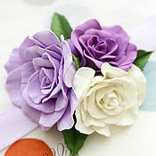 Аксессуары ручной работы. Ярмарка Мастеров - ручная работа Повязка с розами. Handmade.