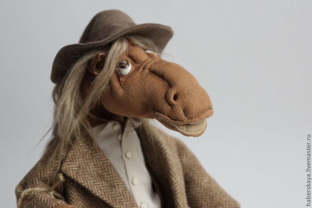 """Коллекционные куклы ручной работы. Ярмарка Мастеров - ручная работа. Купить Конь """"Кто-кто???"""" текстильный каркасный. Handmade. Лошадь"""