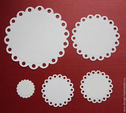 Открытки и скрапбукинг ручной работы. Ярмарка Мастеров - ручная работа. Купить Вырубка для скрапбукинга  Eyelet Circles 5 элементов. Handmade.