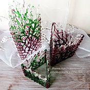 """Для дома и интерьера ручной работы. Ярмарка Мастеров - ручная работа Комплект подсвечников из стекла """"Весенний лес"""", фьюзинг. Handmade."""