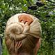 """Заколки ручной работы. Заказать Заколка для волос из дерева """"Поцелуй зари"""" (дикая слива). Oakforest (Александр). Ярмарка Мастеров. вишня"""