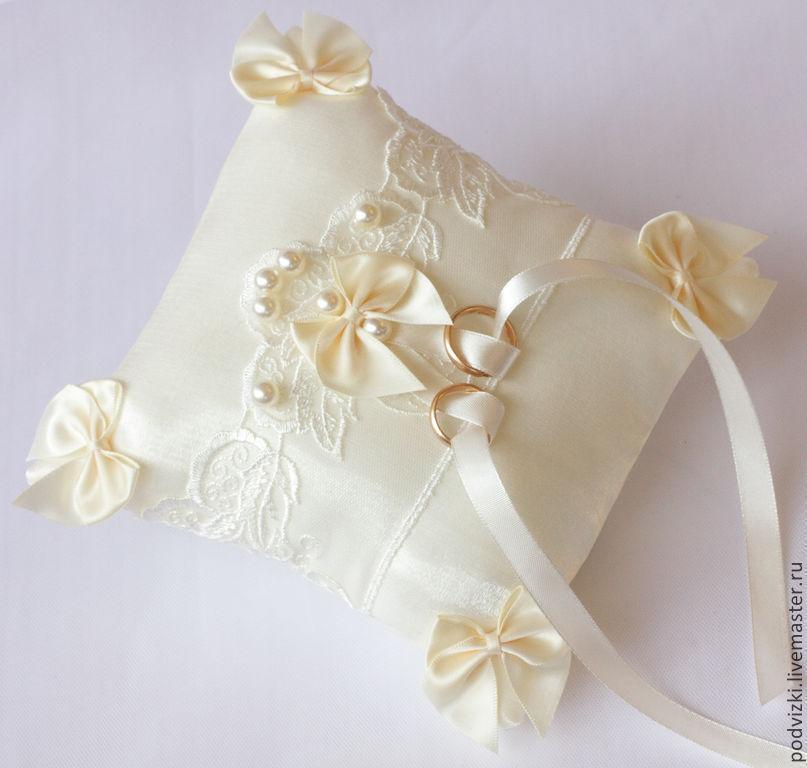 подушки под кольца на свадьбу