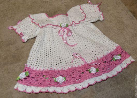 Одежда для девочек, ручной работы. Ярмарка Мастеров - ручная работа. Купить Платье Детское. Handmade. Белый, платье для новорожденной