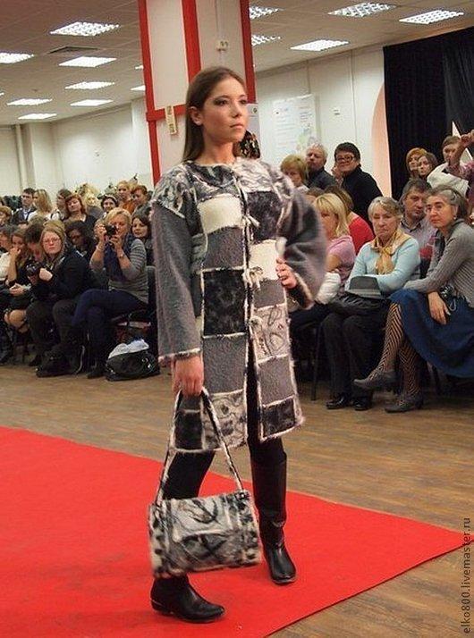 """Верхняя одежда ручной работы. Ярмарка Мастеров - ручная работа. Купить Пальто """"Mosaic in grey """". Handmade. Пальто"""
