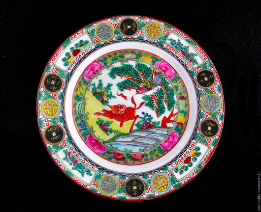 Винтажная посуда. Ярмарка Мастеров - ручная работа. Купить Декоративная тарелка. Handmade. Комбинированный, китайский стиль