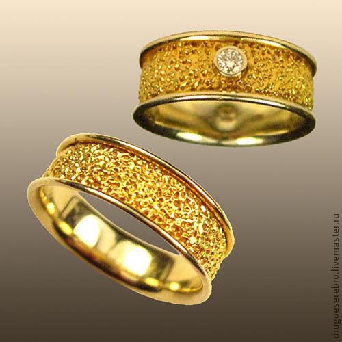 Кольца ручной работы. Ярмарка Мастеров - ручная работа. Купить Золотые кольца KG1/KM1. Handmade. Подарок девушке, золотое кольцо