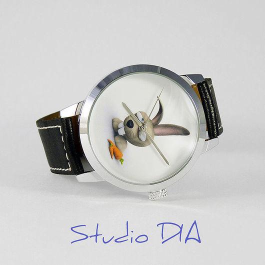 Часы. Наручные Часы. Оригинальные Дизайнерские Часы Кролик. Студия Дизайнерских Часов DIA.