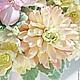Свадебные цветы ручной работы. Букет невесты в персиково-розовых оттенках из полимерной глины. Юлия Шепелева Lovely Flowers Lab. Ярмарка Мастеров.