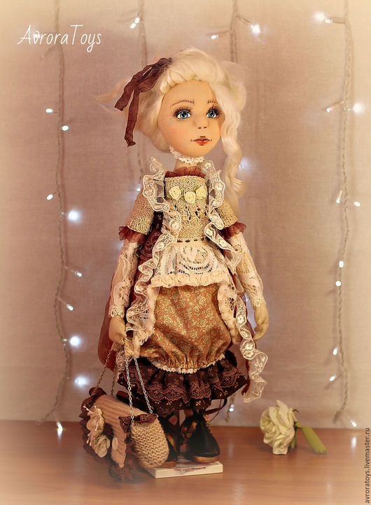 Коллекционные куклы ручной работы. Ярмарка Мастеров - ручная работа. Купить Офелия. Handmade. Бежевый, бохостиль, фатин