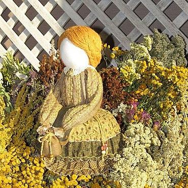 Русский стиль ручной работы. Ярмарка Мастеров - ручная работа Кукла травница оберег. Handmade.