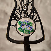 Украшения handmade. Livemaster - original item Pendant with micro-embroidery