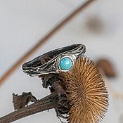 Украшения handmade. Livemaster - original item Silver ring with turquoise