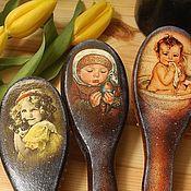 Сувениры и подарки handmade. Livemaster - original item Vintage looking baby hair brushes. Handmade.