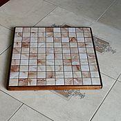 Для дома и интерьера handmade. Livemaster - original item Ceramic thermal stand on wooden platform PCT-PP0000004. Handmade.