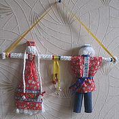 """Русский стиль ручной работы. Ярмарка Мастеров - ручная работа Куклы """"Неразлучники"""" -оберег. Handmade."""