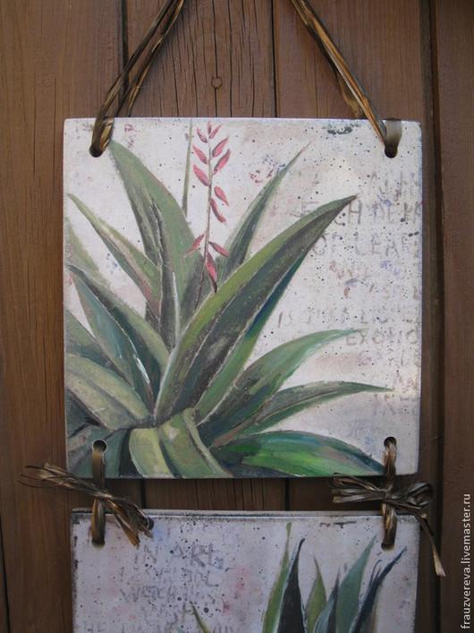 """Картины цветов ручной работы. Ярмарка Мастеров - ручная работа. Купить """"Каланхое"""". Handmade. Салатовый, картины, зеленый цвет"""