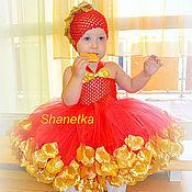 Работы для детей, ручной работы. Ярмарка Мастеров - ручная работа Пышное платье для девочки Золотая осень и аксессуары. Handmade.