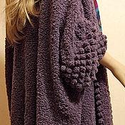 Одежда ручной работы. Ярмарка Мастеров - ручная работа Вязаный кардиган Purple Bubble. Handmade.