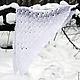 """Шали, палантины ручной работы. Ярмарка Мастеров - ручная работа. Купить Шаль-платок """"Поцелуй января"""". Handmade. Белый, ажур"""