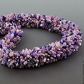 Украшения handmade. Livemaster - original item Beaded harness Lavender field. Handmade.