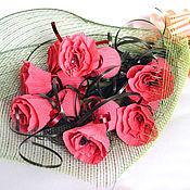 Цветы и флористика ручной работы. Ярмарка Мастеров - ручная работа Букет сладких роз. Handmade.