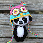 Stuffed Toys handmade. Livemaster - original item cute panda. Handmade.