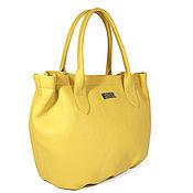 """Сумки и аксессуары ручной работы. Ярмарка Мастеров - ручная работа Сумка кожаная """"Луч"""", желтая сумка, кожаная сумка. Handmade."""